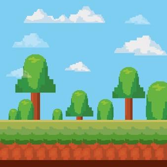 ピクセル化されたビデオゲームのアイコン
