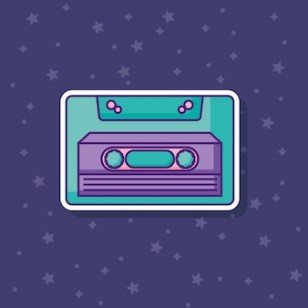Ретро значок кассеты