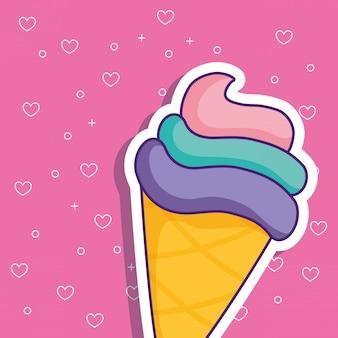 アイスクリームコーンのアイコン