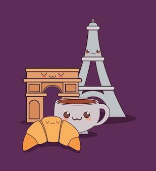 勝利のアーチを持つフランス文化