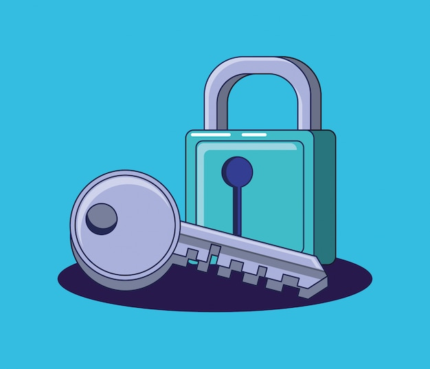 安全で安全な南京錠