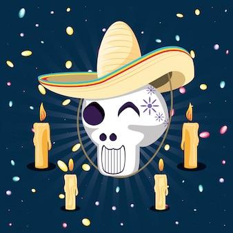 口ひげと帽子とサンタの死のマスク