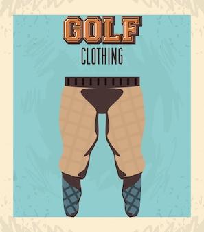 ゴルフユニフォーム男性用パンツ