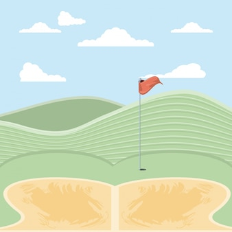 砂トラップでゴルフの呪い