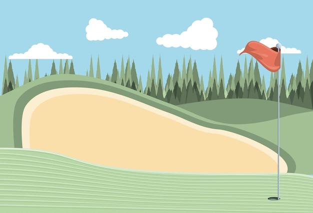 Проклятие гольфа с песколовкой