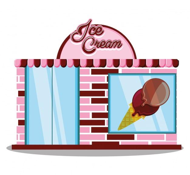 アイスクリームショップのファサード