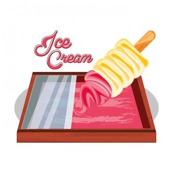 取鍋付きアイスクリームトレイ