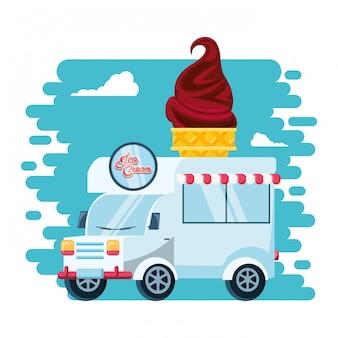 アイスクリームショップバン