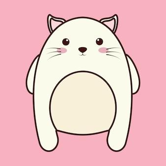 かわいい猫の動物のアイコン