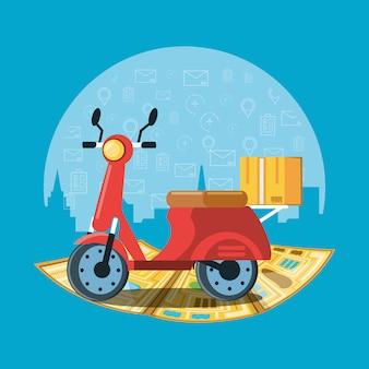 物流サービスのオートバイ輸送