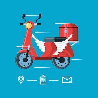 Мотоциклетный полет логистического сервиса