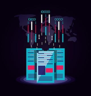 データセンターの分離アイコン