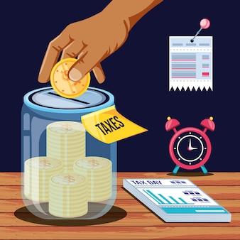 Налоговый день с банкой