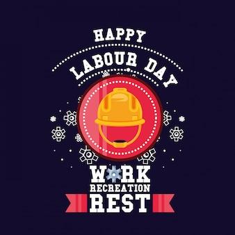 セキュリティヘルメットと幸せな労働者の日