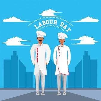 シェフとの労働者の日のお祝い