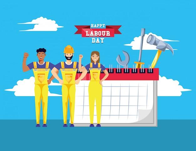 建設労働者との幸せな労働者の日