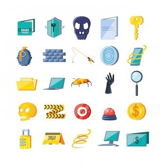 Набор иконок кибербезопасности