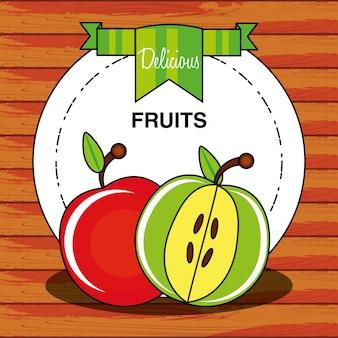 新鮮なリンゴフルーツ