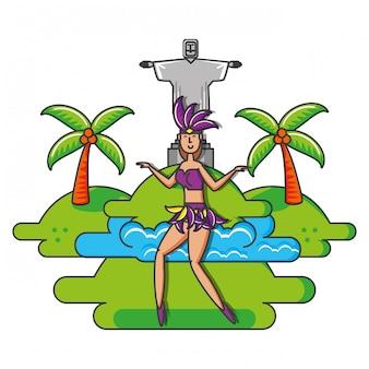 ブラジルの女性ダンサーのキャラクター