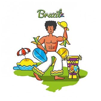男性のブラジル人ダンサーのキャラクター