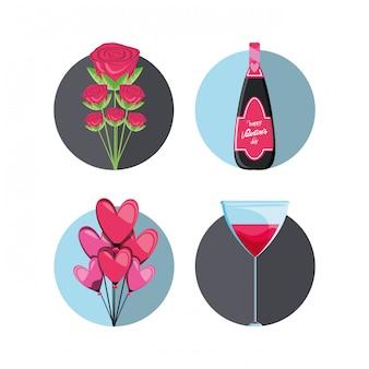 バレンタインの日カードのアイコンを設定