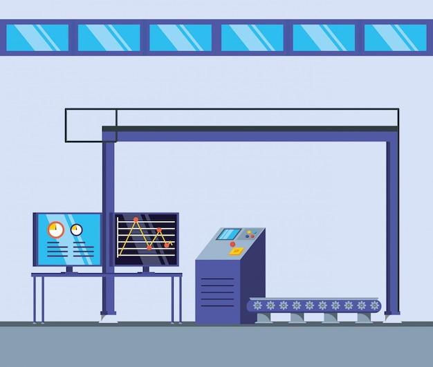 Техническая фабричная сцена