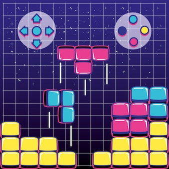 ボタンコントロール付きのビデオゲームブロック