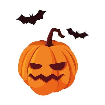 Тыква с праздником хэллоуин