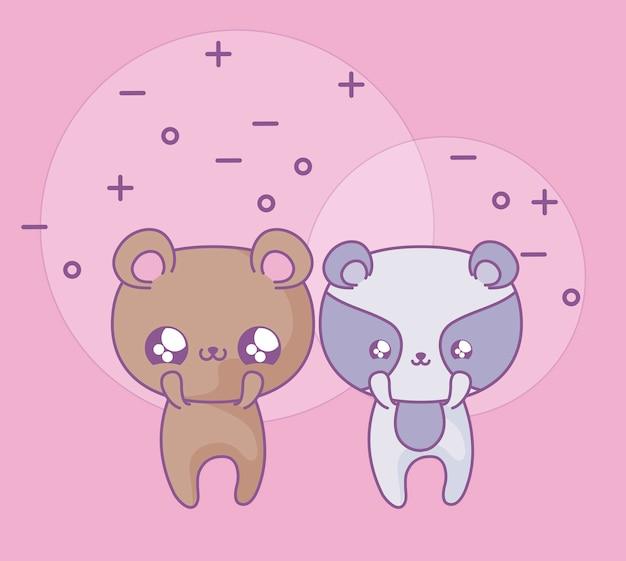 アライグマの赤ちゃん動物かわいいスタイルのかわいいクマ