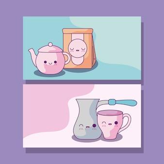 Набор чайников кухонных в стиле каваи