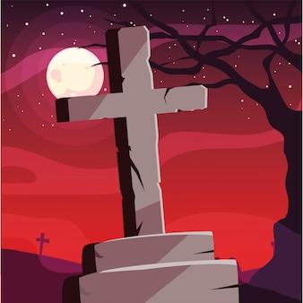セメントクロス幸せなハロウィーンのお祝い