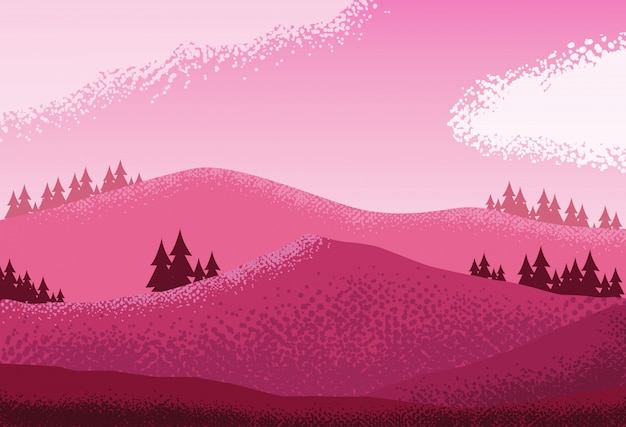 風景自然ピンクシーンの背景
