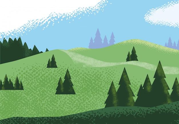 風景山岳風景、自然の背景