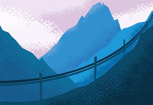 風景自然の青いシーンの背景