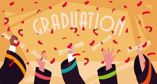 お祝いの卒業証書