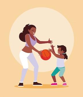母と娘の演奏