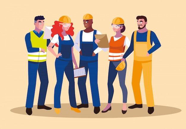 Аватары набор профессиональных работников