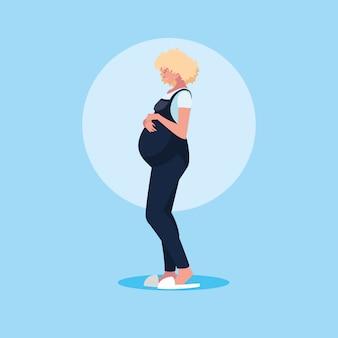Беременная молодая женщина аватар персонажа