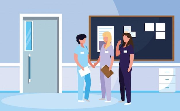 Группа врачей женщин в больнице