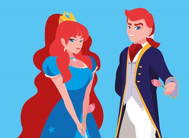 Принцесса и принц сказочного персонажа фэнтезийного аватара