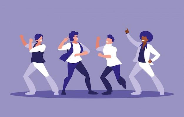 Мужчины танцуют аватар персонажа