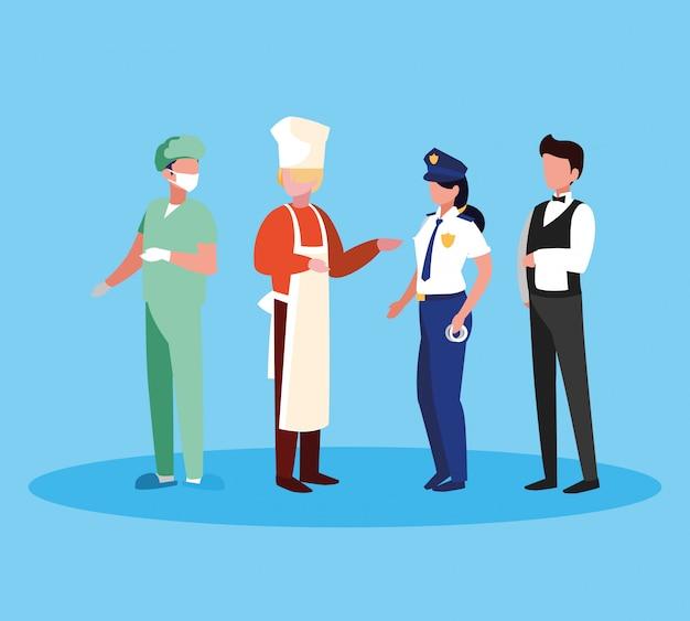 Хирург с группой профессионалов