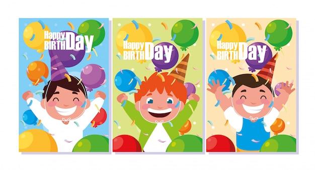 小さな男の子を祝う誕生日カード