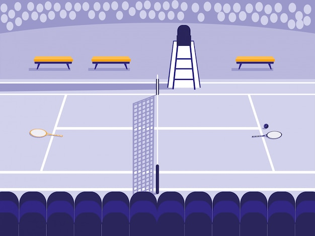 Теннисная спортивная площадка
