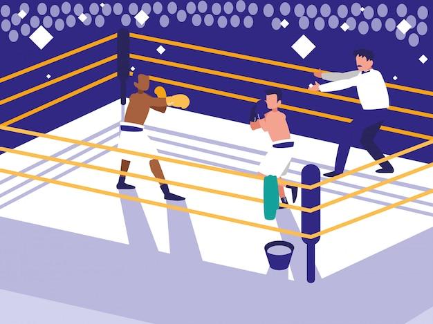 ボクシングリングシーン