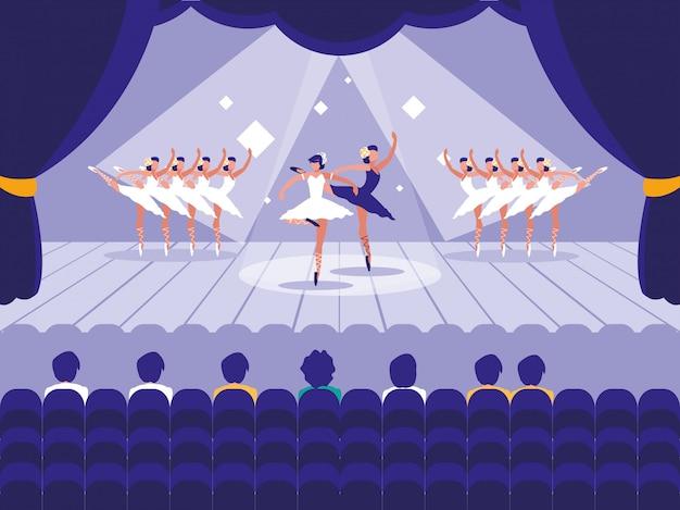 ショーバレエシーンのステージ
