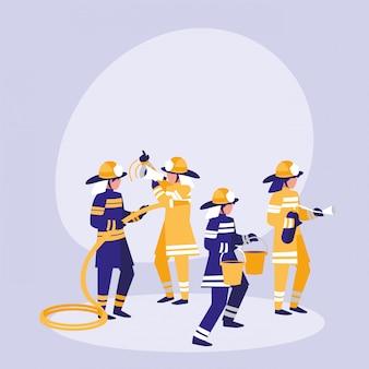 Группа пожарных аватара персонажа
