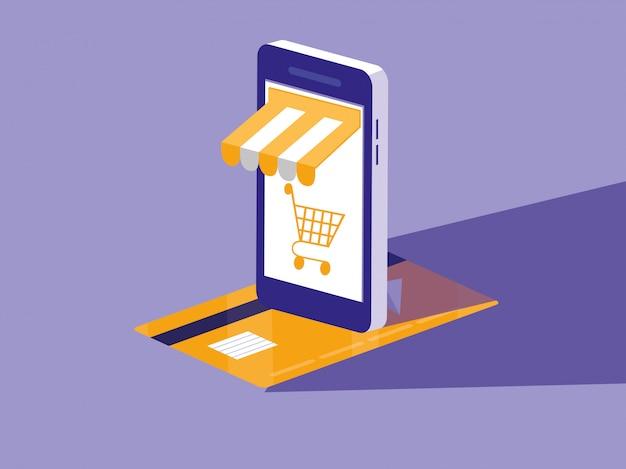 スマートフォンとクレジットカードでオンラインショッピング