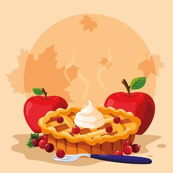 感謝祭の日にリンゴとパイ