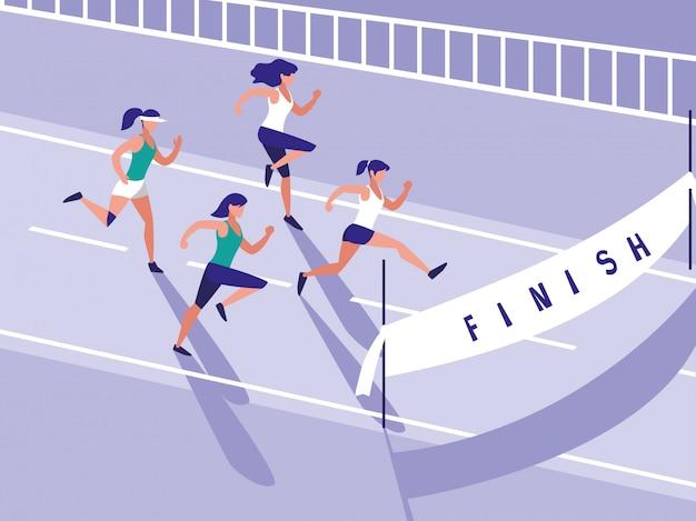 Легкая атлетика гонки женского персонажа